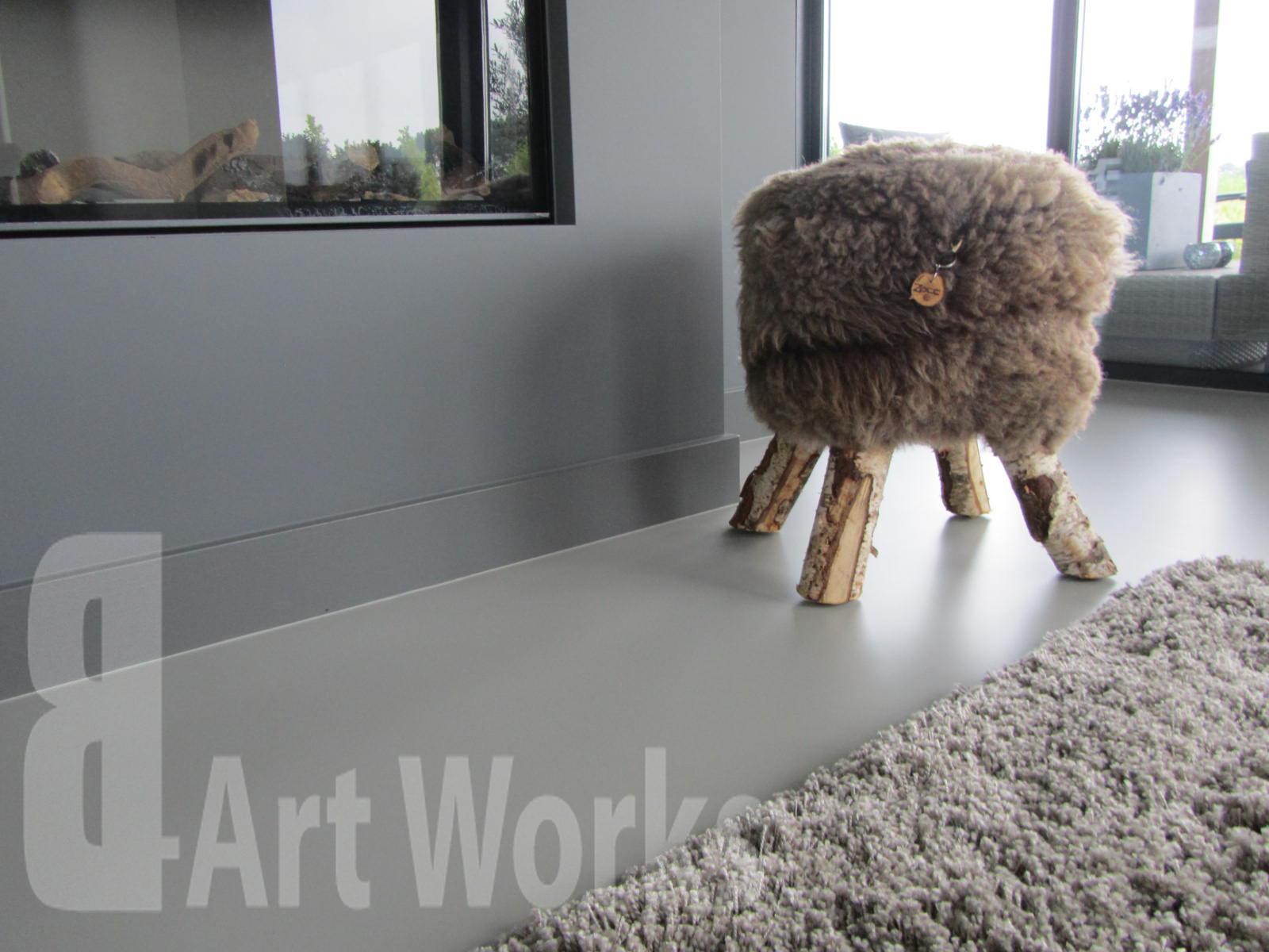 Gietvloer in de woonkamer | Polyurethaan | Mono Art gietvloer